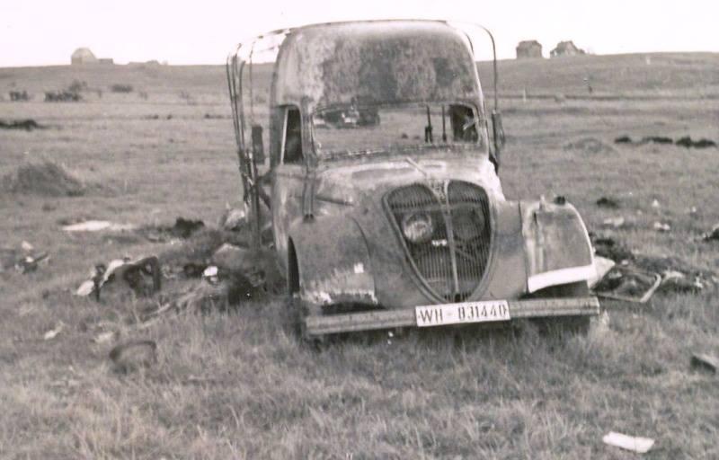zerstörter Peugeot DK5