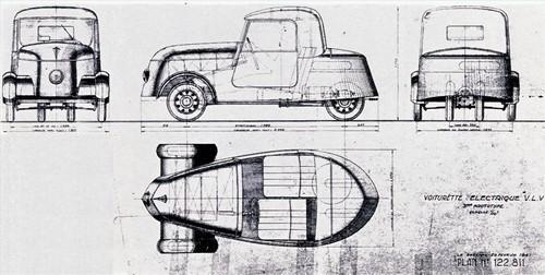Konstruktionszeichnung Peugeot VLV