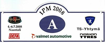 Logo Internationales L'Aventure- Peugeot-Treffen vom 4.-7. Juli 2008 in Naantali/Finnland