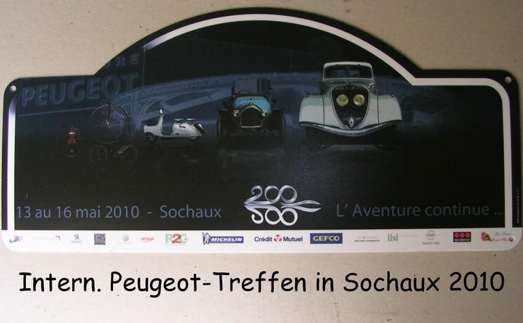 """Logo  """"200 Jahre Peugeot"""" IAPM 2010  Peugeotmuseum in Sochaux"""