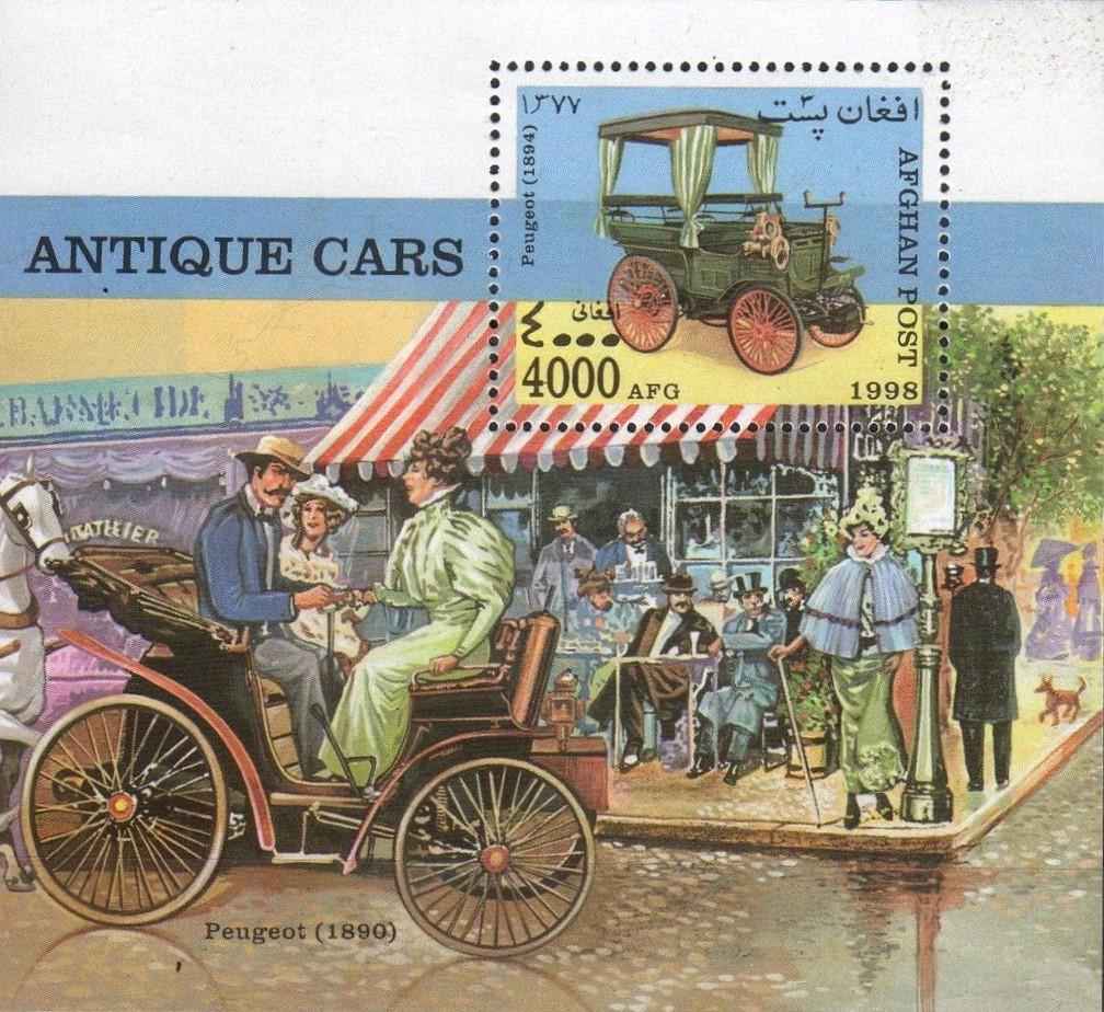 Peugeot-Modelle auf Briefmarken_2