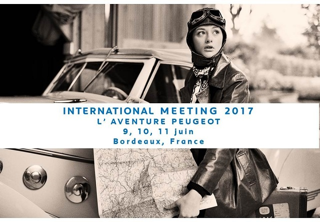 Plakat Internationales L'Aventure Peugeot Treffen in Bordeaux / F - vom 09. – 11. Juni 2017