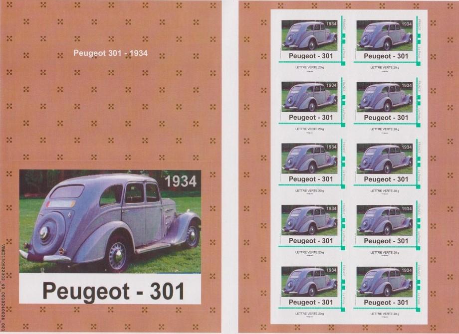 Peugeot-Modelle auf Einzelmarken, sätzen und Blöcken_4