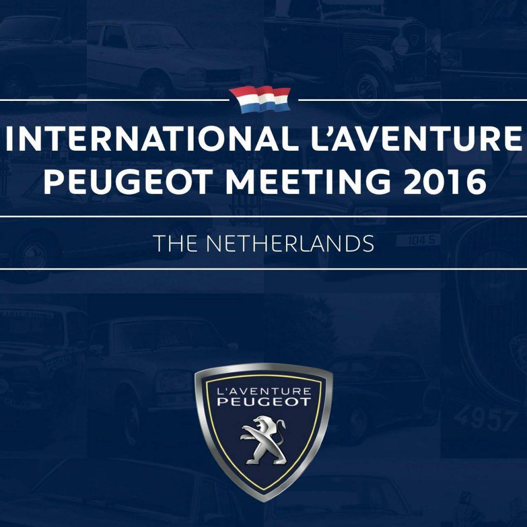 Plakat Internationales L'Aventure Peugeot Treffen 17. – 19.6. 2016 in NL-Oosterbeek