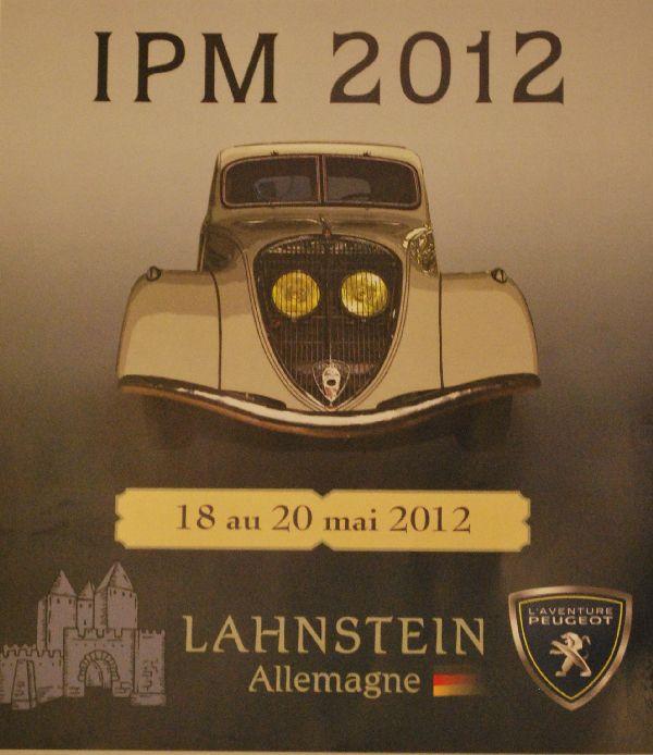 Plakat Internationales L'Aventure Peugeot-Treffen in Lahnstein bei Koblenz vom 18. - 20.5.2012
