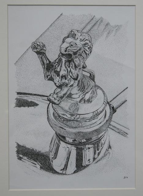 Zeichnung von Joachim Sticksel – Motiv Peugeot