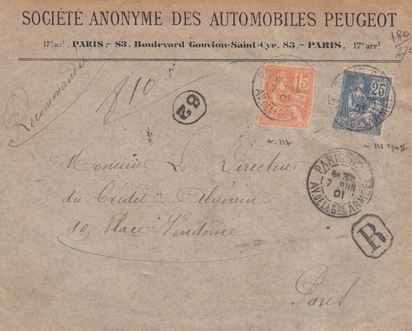 Peugeot-Modelle auf Telegrammen_5