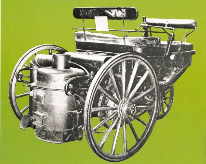 Peugeot Typ 1 - Dampfdreirad nach Serpollet-Patent