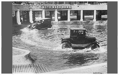 Auto-Waschnanlage ca. 1920