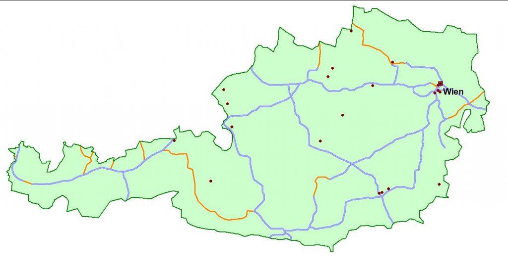 Standorte unserer Mitglieder in Österreich - alle Fahrzeugtypen