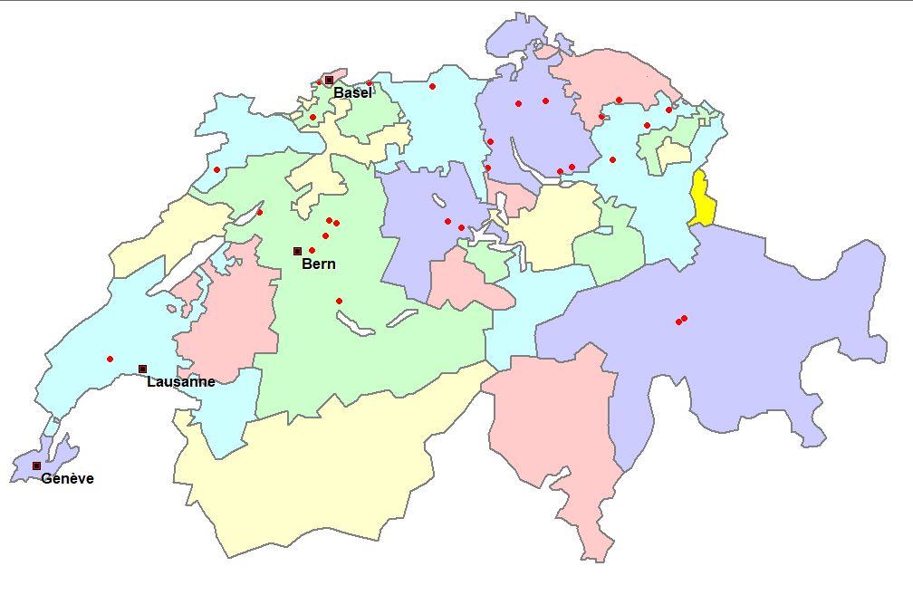 Standorte unserer Mitglieder in der Schweiz - alle Fahrzeugtypen