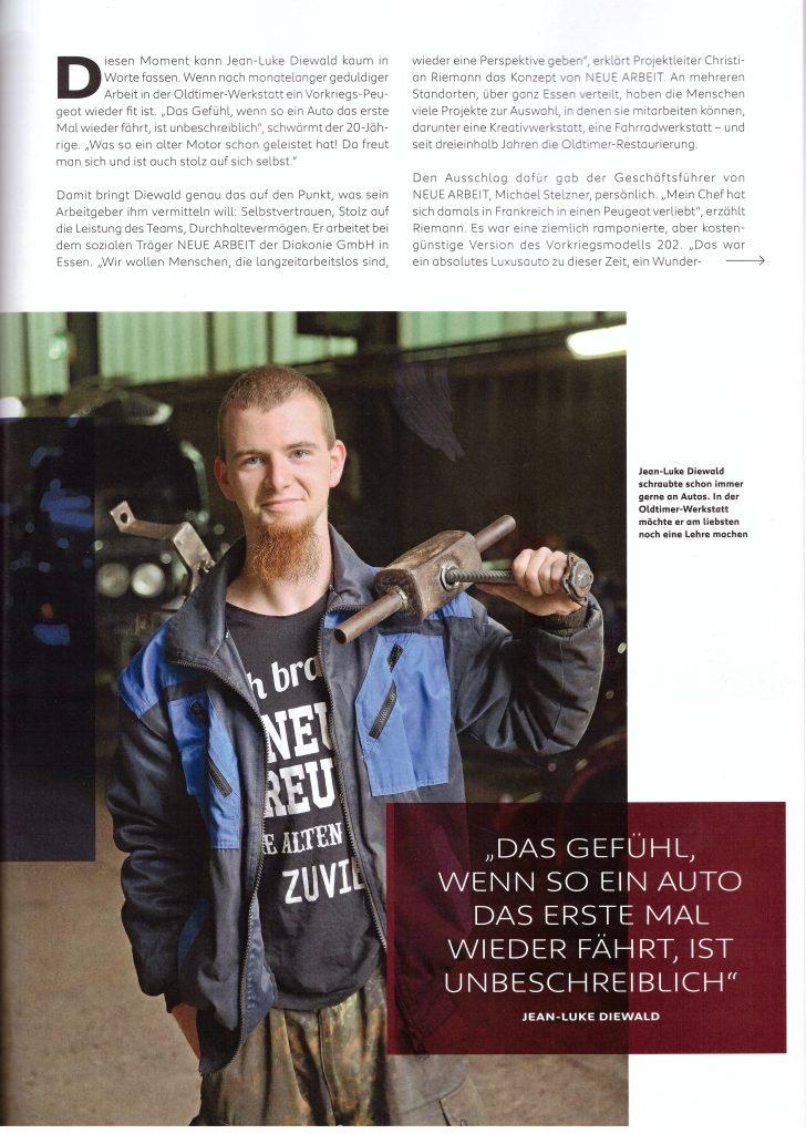 """Artikel aus der Peugeot-Kundezeitschrift """"Impress Yourself"""", Ausgabe Herbst/Winter 2019/2020 - Teil 2"""