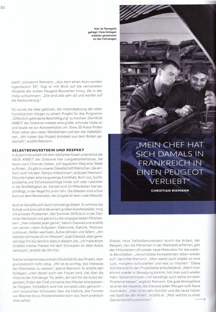 """Artikel aus der Peugeot-Kundezeitschrift """"Impress Yourself"""", Ausgabe Herbst/Winter 2019/2020 - Teil 3"""