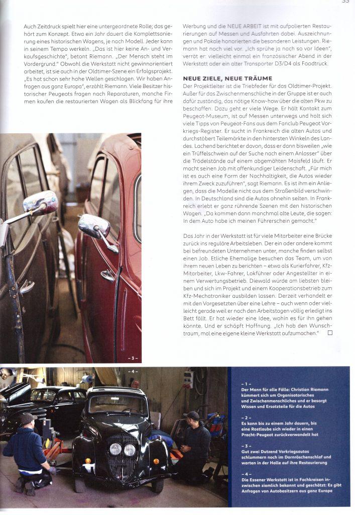 """Artikel aus der Peugeot-Kundezeitschrift """"Impress Yourself"""", Ausgabe Herbst/Winter 2019/2020 - Teil 6"""