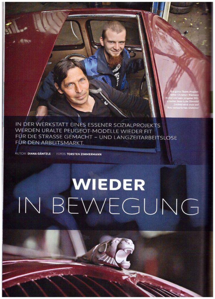 """Artikel aus der Peugeot-Kundezeitschrift """"Impress Yourself"""", Ausgabe Herbst/Winter 2019/2020 - Teil 1"""