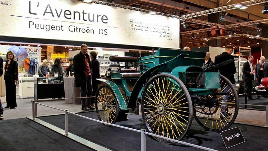 Peugeot Typ 3 auf der Retromobile in Paris.