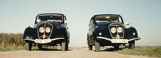 1948er 202 Berlinet (links) und 1939er Berlinet Luxe