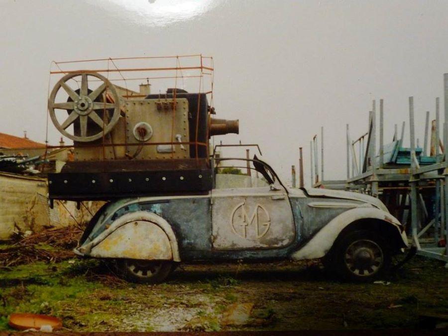Gelegentlich werden die Autos auch als Kunstobjekt genutzt