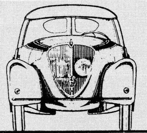 Peugeot 402 Andreau - Zeichnung