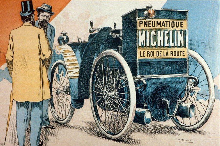 Werbeplakat für Michelin Reifen