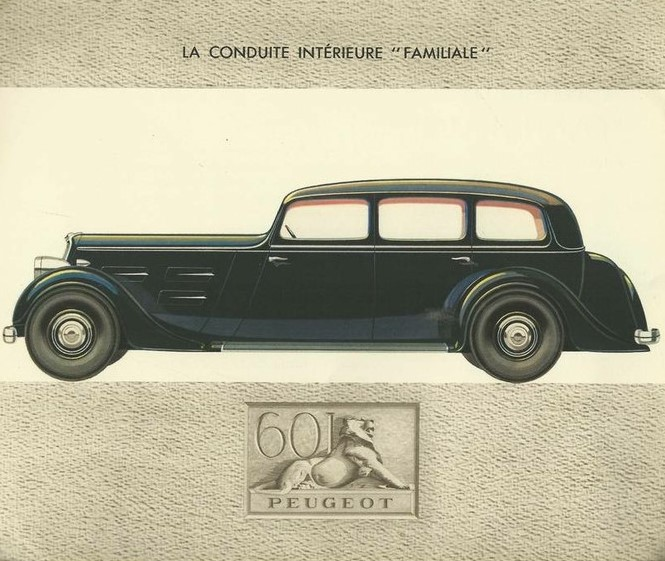 """Peugeot 601 """"Limousine  Familiale"""""""