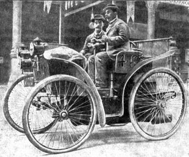 L'Eclaire (Der Blitz) - Peugeot Typ 3 - modifiziert mit Luftreifen