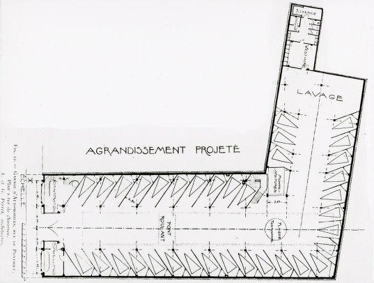 Planzeichnung Garage Ponthieu