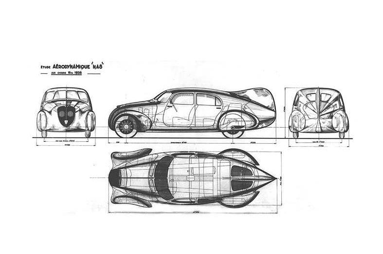 Peugeot 402 Andreau - Pläne