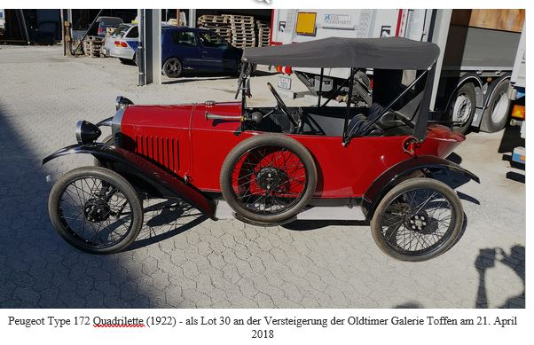 Peugeot Typ 172 Quadrillette mit 11 PS