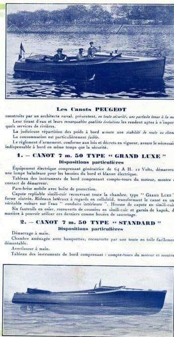 Prospektblatt Peugeot Maritime