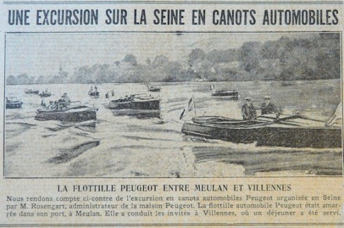 "Zeitungsausschnitt ""1. Salon Nautique"" in Paris"