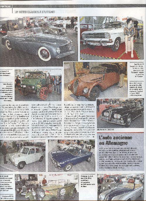 Zeitschrift La Vie de l'Auto vom 25.3.2010