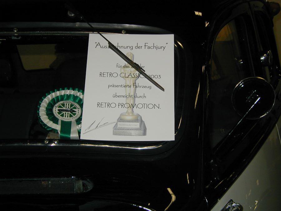 RetroClassics 2003 Peugeot 402 Preisverleihung