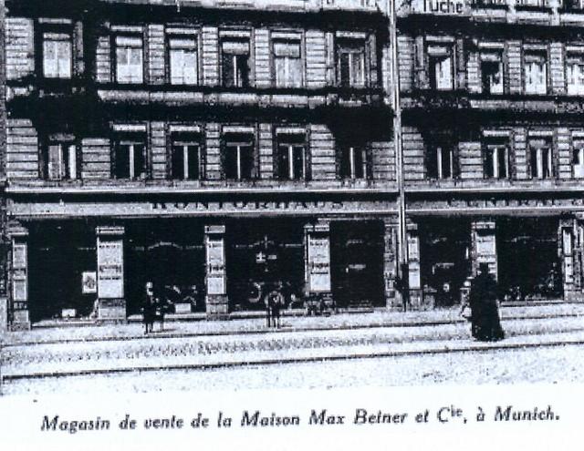 ca. 1920 - die Fa. Beimer & Cie in München hat auch Peugeot-Fahrzeuge im Programm