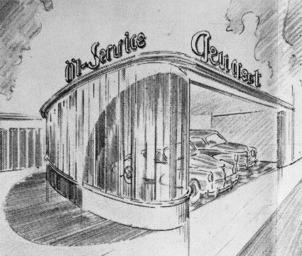 ca. 1950: Die neuen Räume von Kochte & Rech in Saarbrücken-Schafbrücke