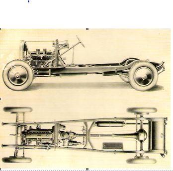 Peugeot Typ 184 Schnittzeichnung
