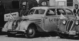 Der Presse wurde ein brandneuer Peugeot 402 zur Verfügung gestellt