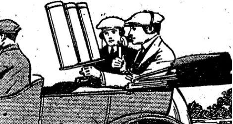 """Grafik """"Portable Wireless Telephone"""" im Fahrzeug"""