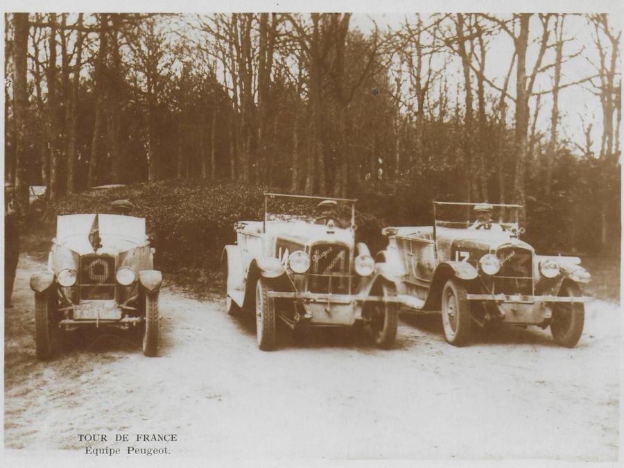 Tour de France: Die Fahrzeuge der Equipe Peugeot in den 1920er Jahren