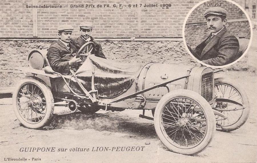 1908 - Guippone  beim GP de Voiturettes