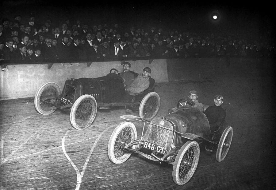 1909 - Guippone + Boillot im Velodrom d'hiver