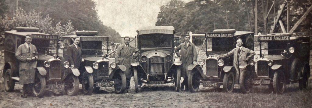 """1924 Fuhrpark Peugeot Lieferwagen """"Stall der englischen Apotheke"""""""