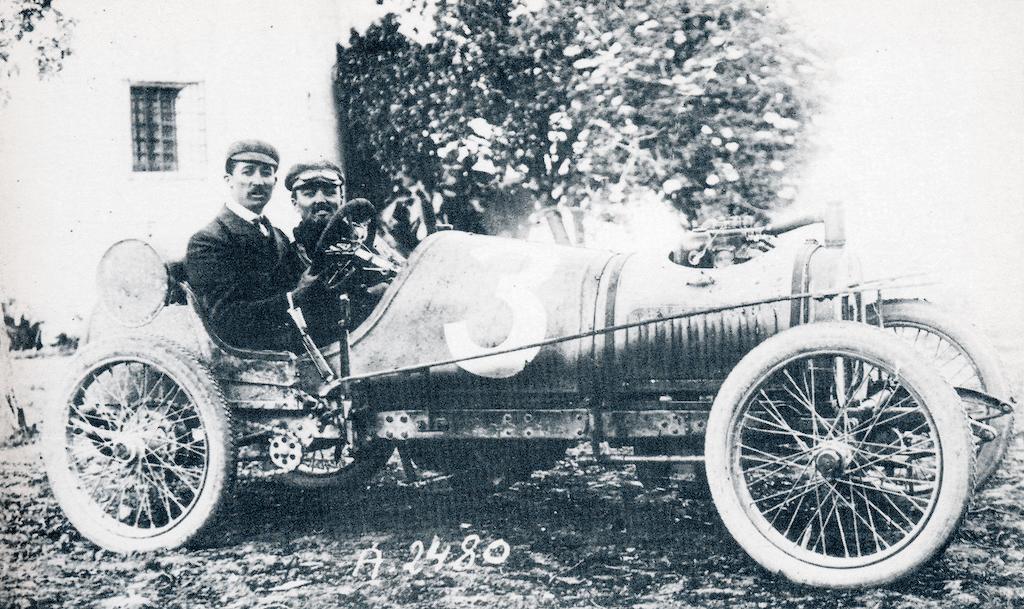 Der Sieger der Coppa Florio 1909: Jules Goux