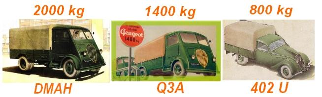 Peugeot Lastkraftwagen DMHA, Q3A, 402 U
