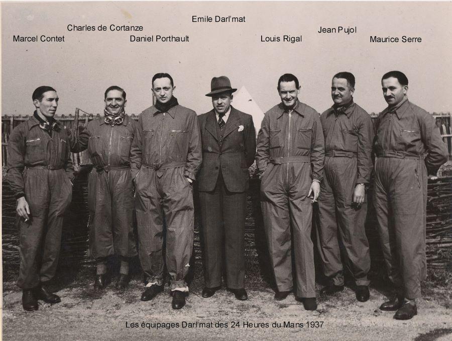 Team DArl'mat beim 24 Stunden rennen von LeMans 1937