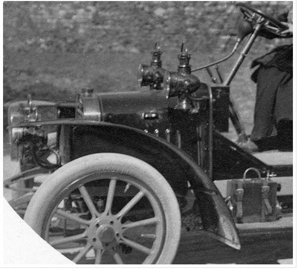 Detail Lion-Peugeot Type VC2; originale Postkarte aus Sammlung Michael Schlenger