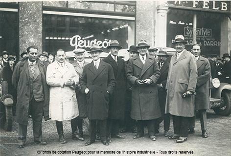 Von Links: Barth - Boillot - Morillon - Proust - de Ponfilly - Kommandant Gamma - Vallée - Montagnan - Dr. Tillier - Koechlin - Campagna