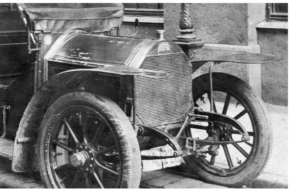 Detail Peugeot 120 oder 122; Originalfoto aus Sammlung Michael Schlenger