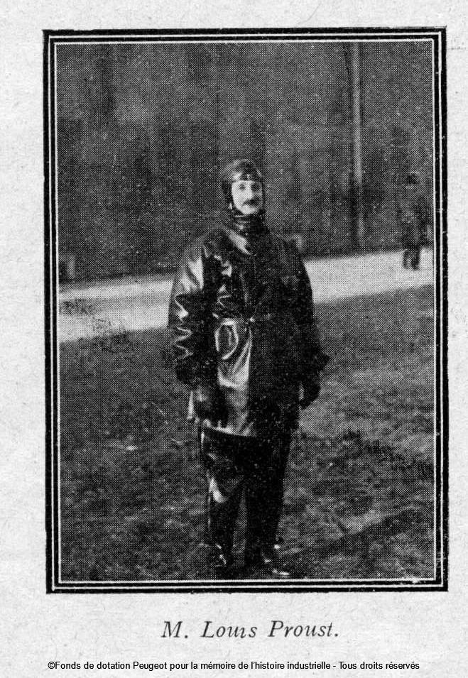 Louis Proust - Foto veröffentlicht in der Peugeot Review n°74 vom Dezember 1929