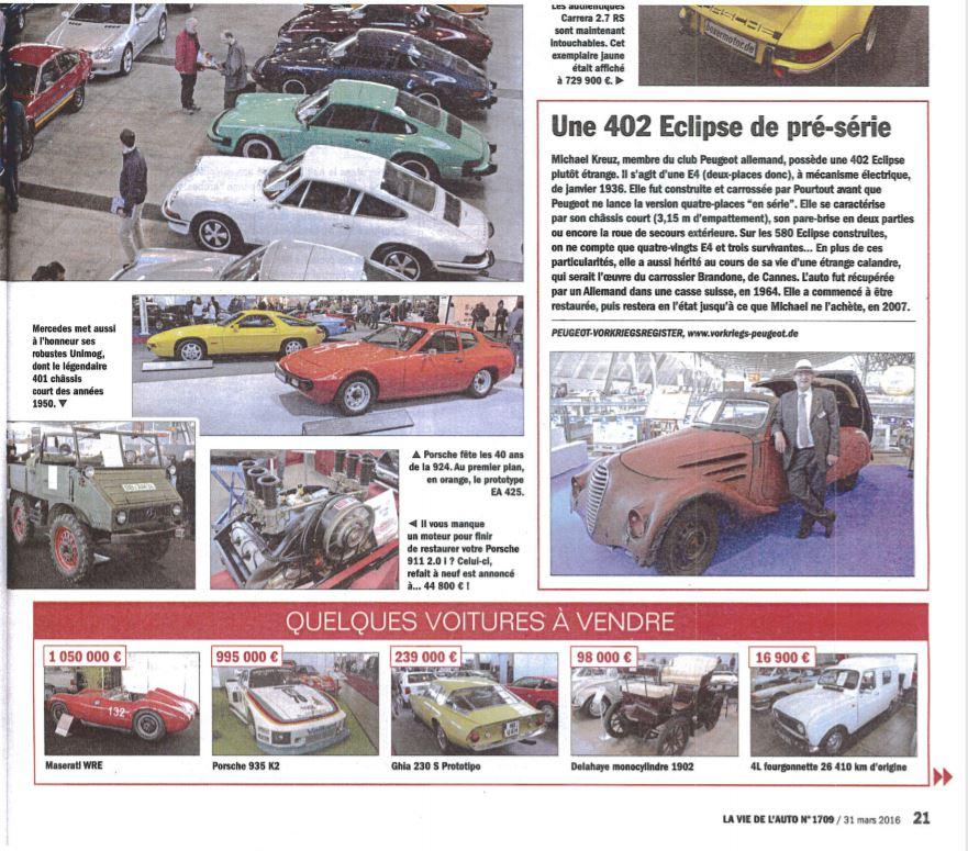 Auszug La Vie de Auto (Nr. 1709/31.3.2016)